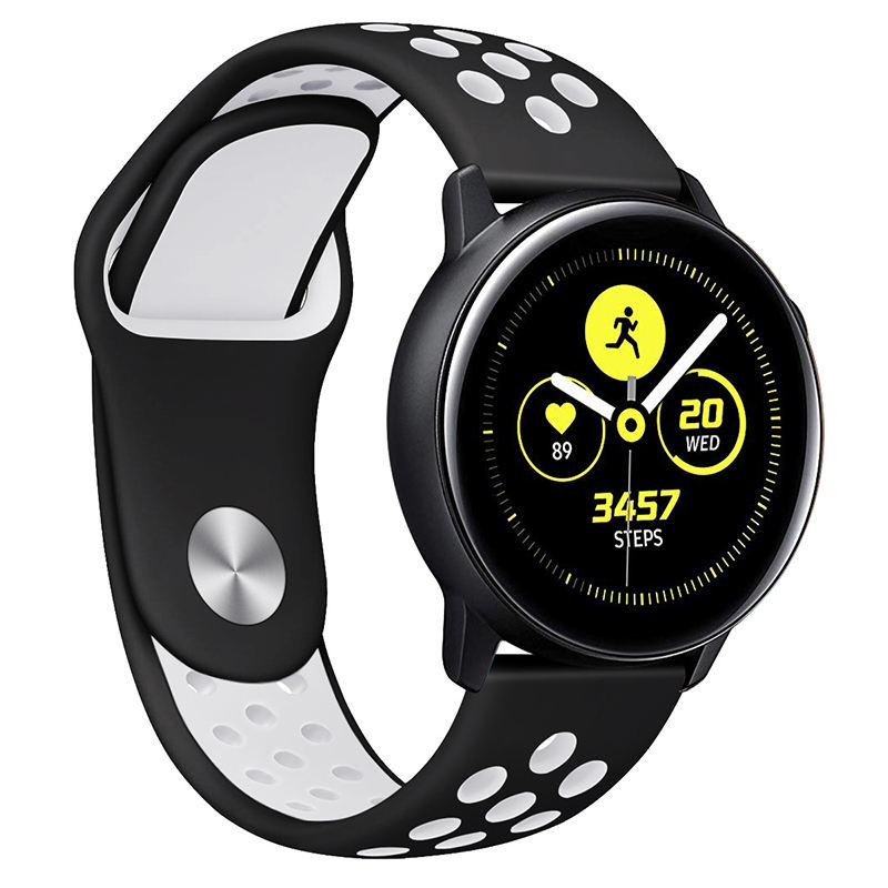 Two Color Breathable Smart Watch Sports Strap Band For Samsung Galaxy Watch Active 2 gear s3 s2 42mm 46mm
