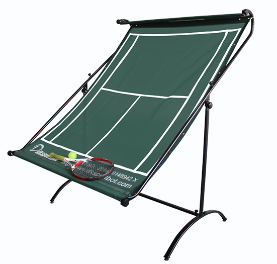 Siboasi D518 green color tennis trainer net use for tennis ball training