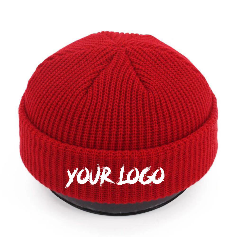 Wholesale Custom Knitted Hats Embroidered Logo Warm Beanie Men's Winter Hat