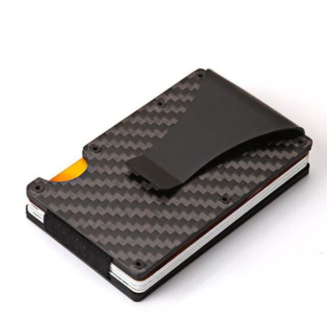 High Quality Aluminum Carbon Fiber Card RFID Blocking Wallets with Money Clip
