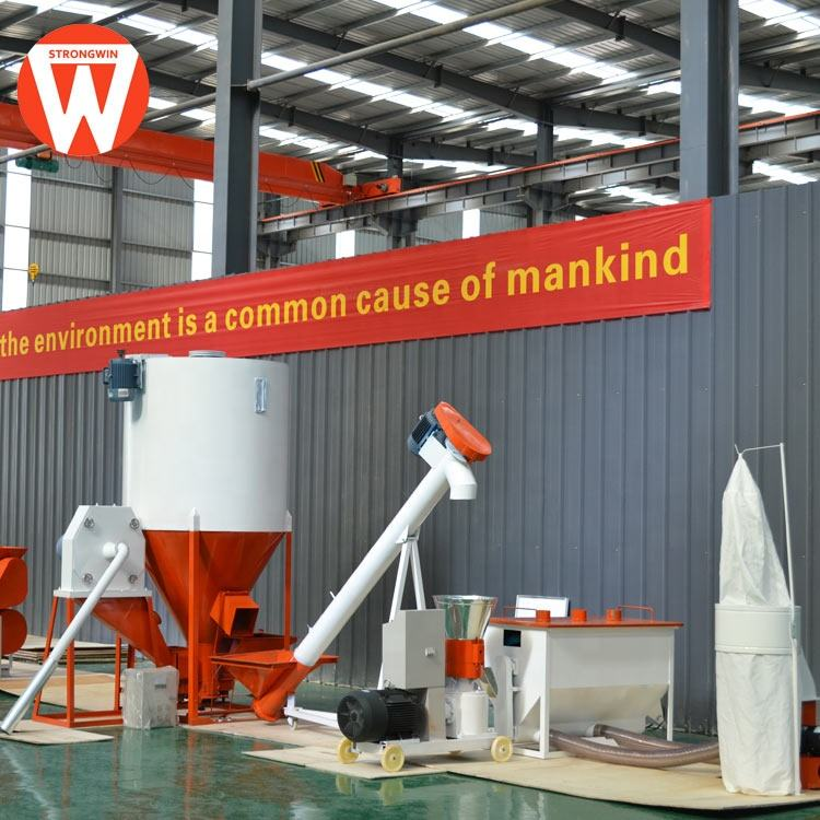 Selling well all over the world Strongwin animal chicken pig small poultry feed mill