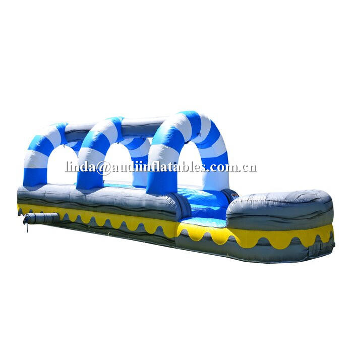 Slip Bounce House Slide Summer Inflatable Water Slipping Slide with blower