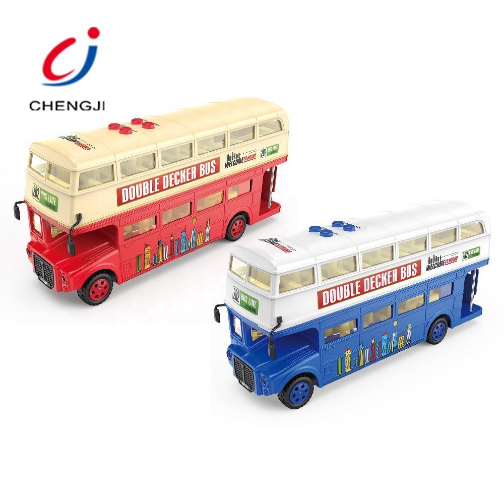 1:43 2-étage London Double Decker Bus Modèle Jouet Voitures en alliage de Hong-Kong Light Music
