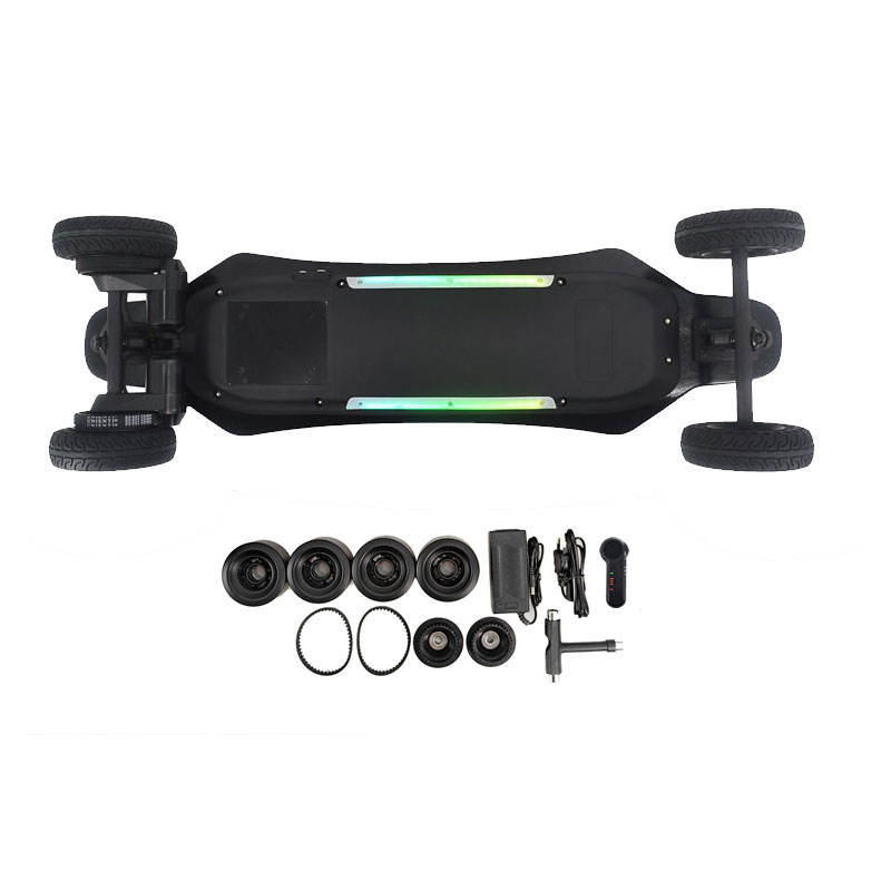 Best selling private mode DIY blank skateboard dual brushless motor remote control adult electric skateboard kit