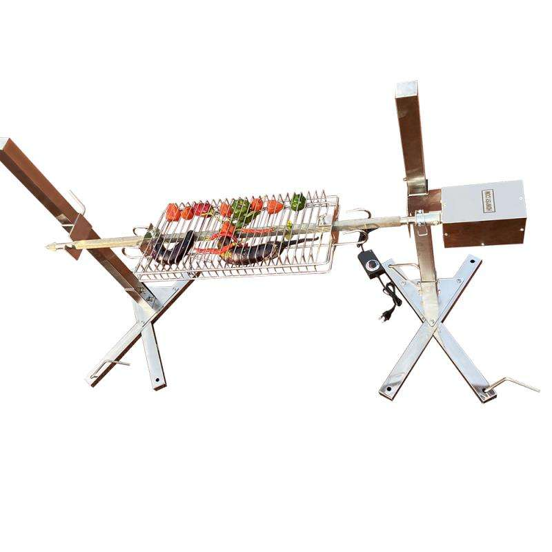 Outdoor Tuin Open Fire <span class=keywords><strong>Rvs</strong></span> Spit Koffiebrander Rotisserie kit <span class=keywords><strong>Houtskool</strong></span> <span class=keywords><strong>BBQ</strong></span> Grill