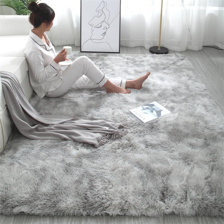 Wholesale Custom grey shaggy fluffy flooring kids living room carpet