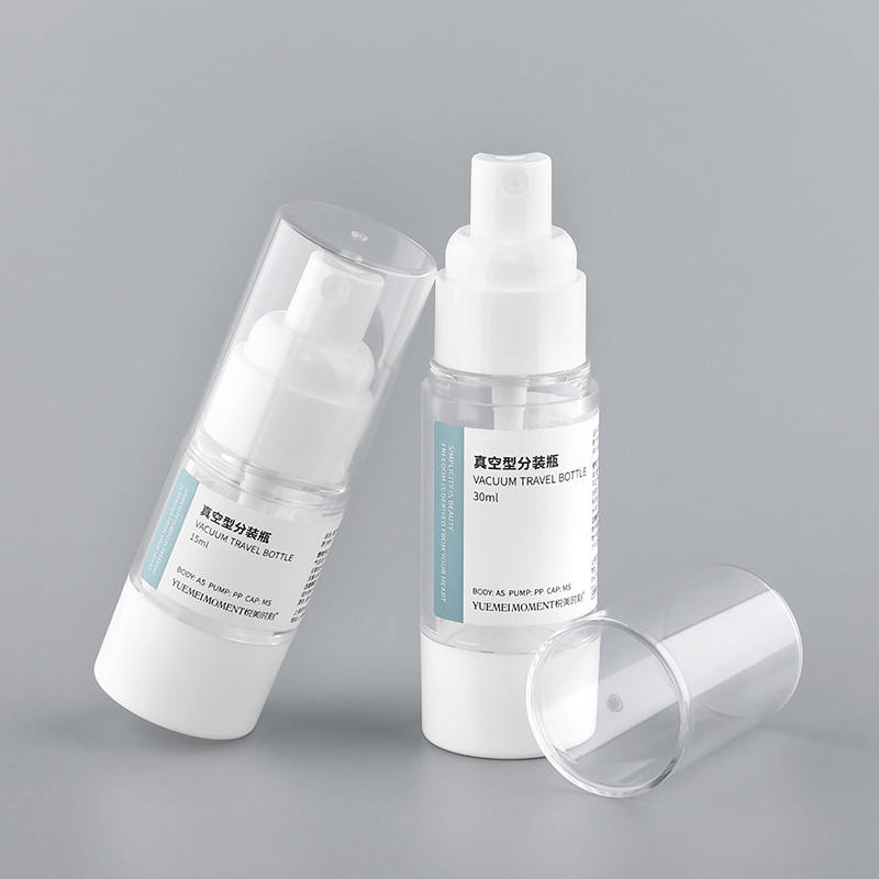 15ml 30ml 50ml High End Empty Cosmetic Packaging Plastic Clear Airless Lotion Spray Pump Bottle