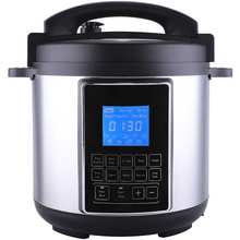 12858C household pressure cooker with LCD display and 12 automatic functions and detachable cord for safety Chinese supplier