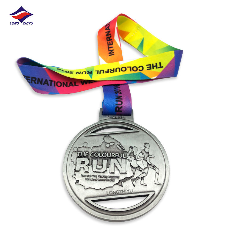 High quality custom marathon medal metal medal 3D sport running medal professional producer Longzhiyu 12 years manufacturer