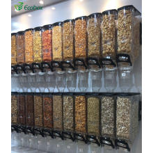 Ecobox factory supplier narrow gravity bin food nuts cereal candy grain organic dispenser