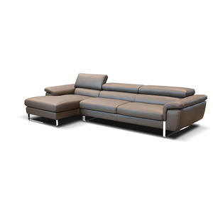 customized color and size italian modern corner leather sofa set