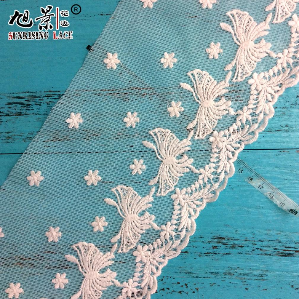 French Decorative Lace Net Embroidery Lace Trim