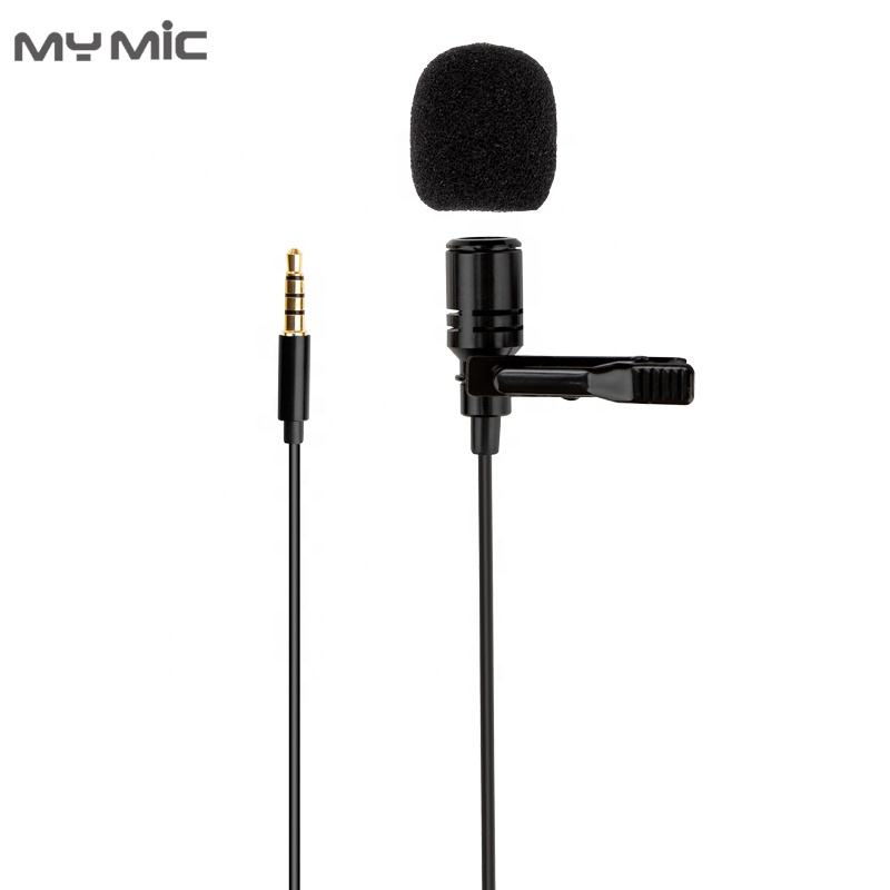 New clip Microphone LJ09 Mini Wired professional Condenser recording Mic lavalier lapel microphone for Smartphones Laptop