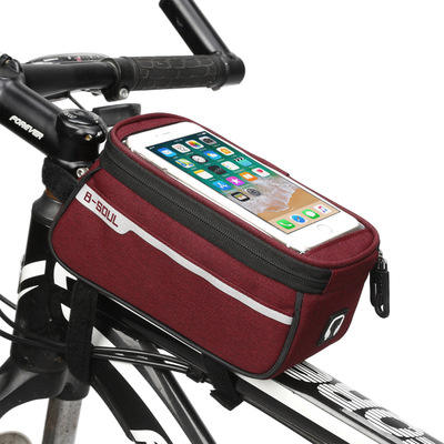 2020 Hot Selling Bicycle Frame Front Head bags saddle Frame Waterproof Bag for Phone