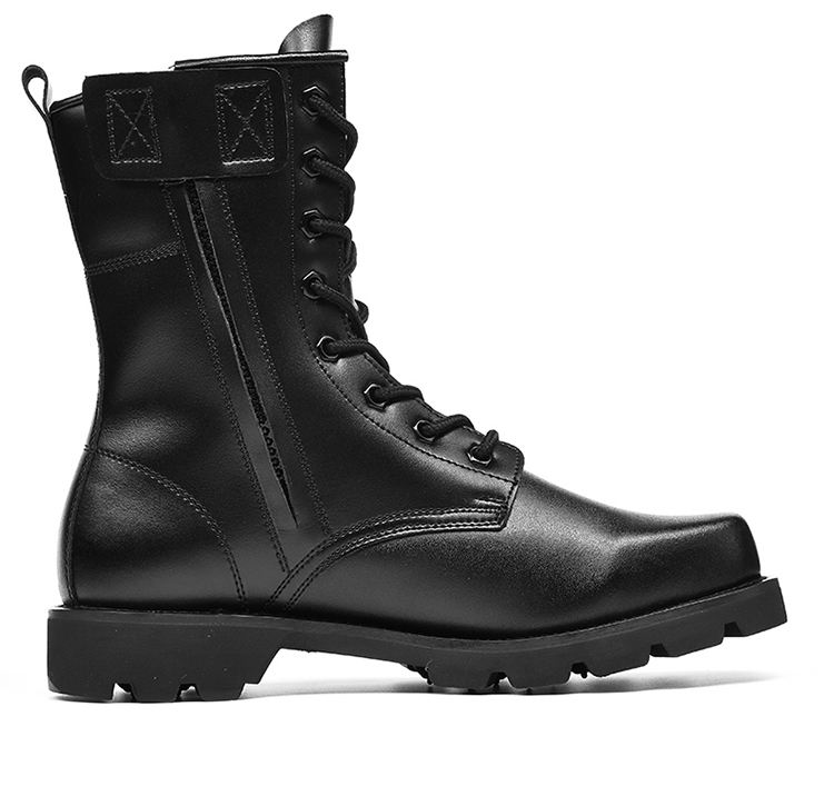 High ankle black jungle genuine leather army boot combat boots military safety