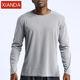 Athletic apparel manufacturer custom printed mens long sleeve fitness sports gym tshirt men