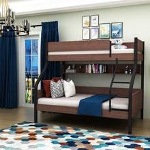 Adult twin over full wooden bunk bed for 3 people, bunk double bed modern for sale bedroom sets