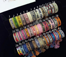 Beautiful colorful handmade woven bracelet, custom name/letters/logo braided Friendship bracelet