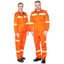 fire retardant clothing shrink resistant orange overalls for women