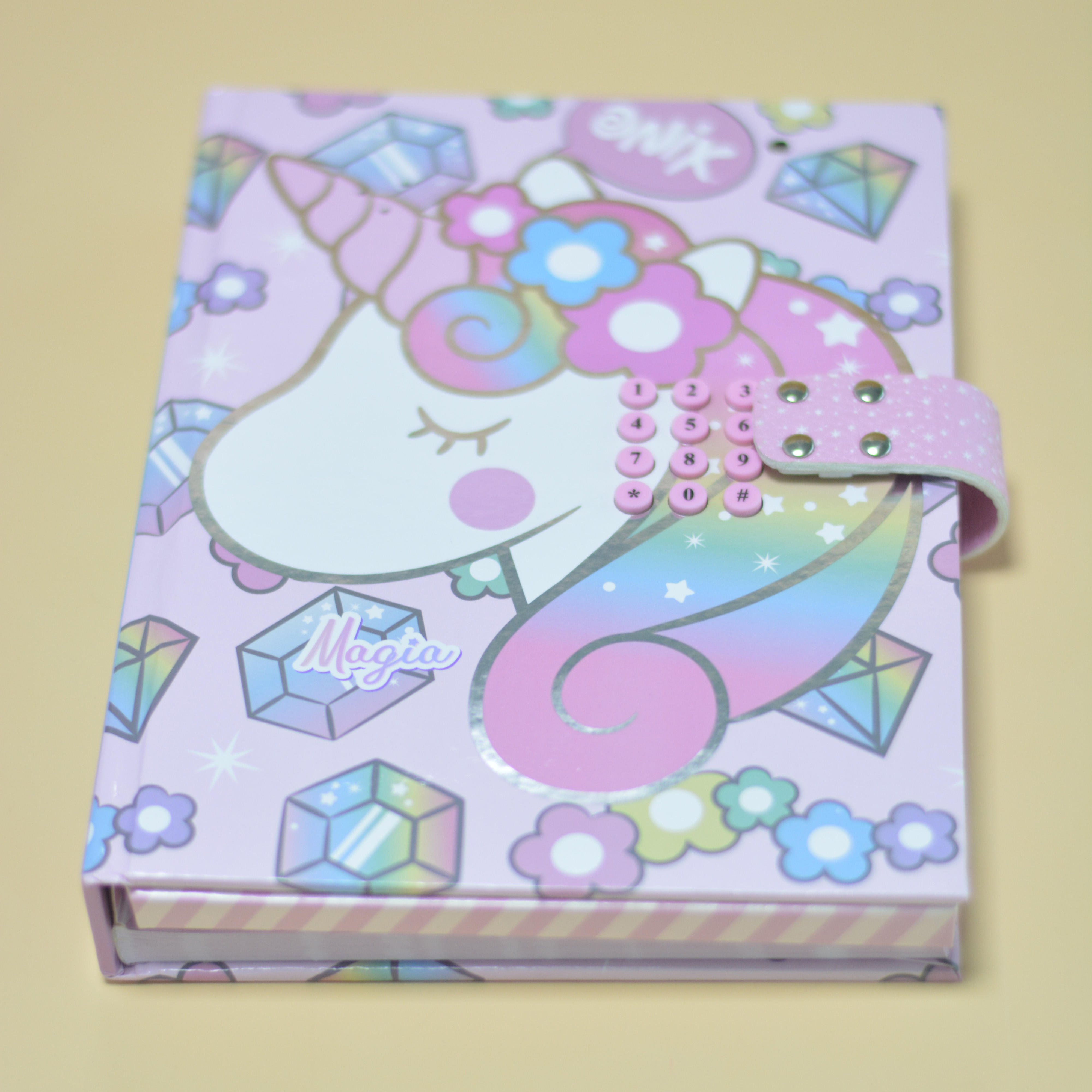 2020 New Style Hot Sale Luxury Customised Unicorn Secret Diary with Code Lock