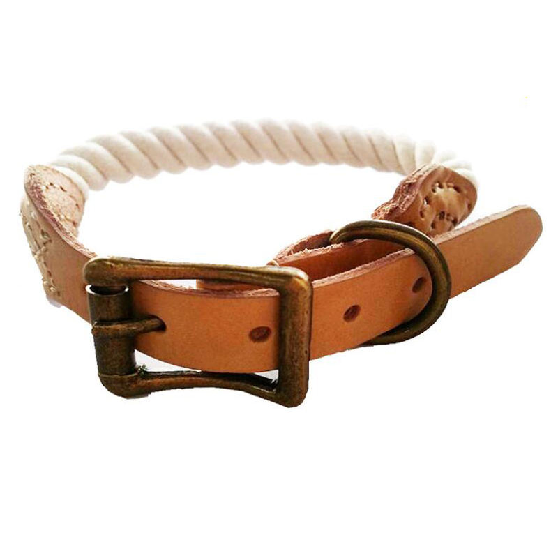 New hot sale cotton rope pet collar