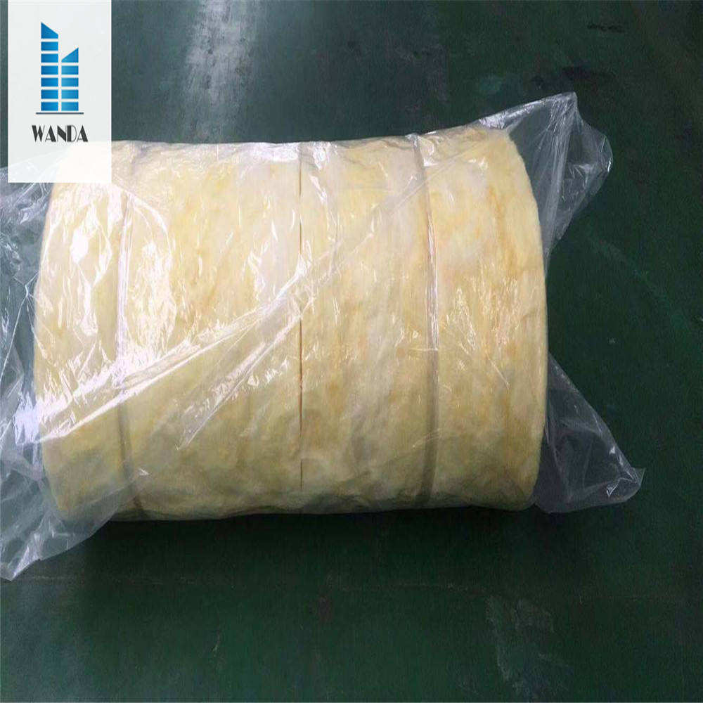 Glass wool blanket with 600*600 width cut in the middle type