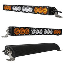 Wholesale curved/straight aurora barra led 4x4 offroad driving work light single row amber strobe car truck led light bar