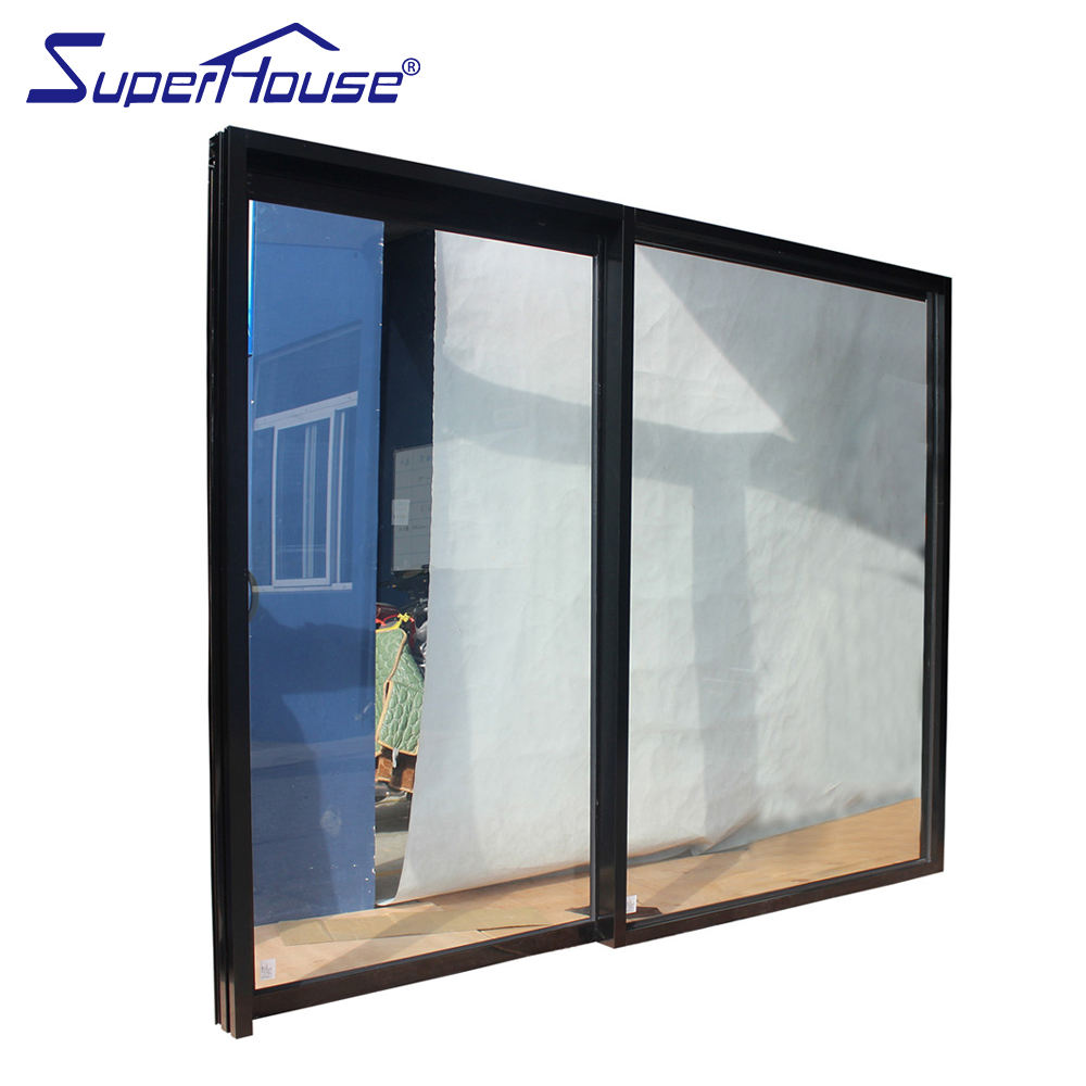 Aluminum Alloy No noise, No threshold, Beautiful, Generous Black Hanging Rail Door