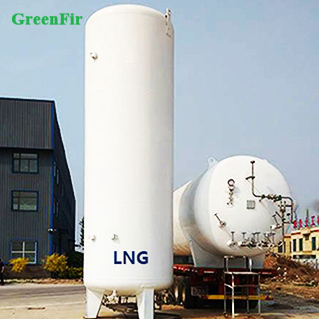 High quality stainless steel cryogenic liquid lng 10m3 storage tank