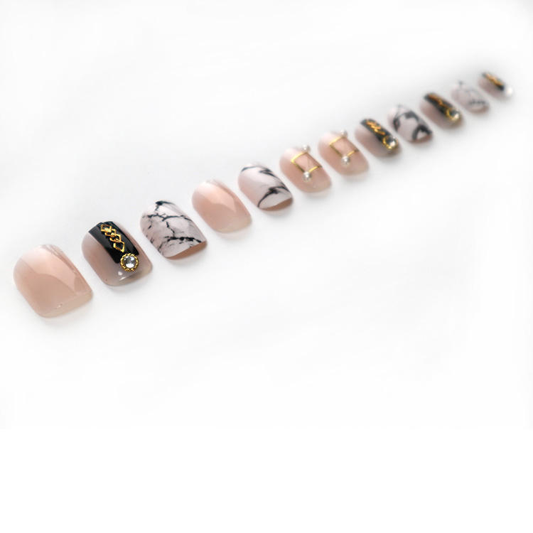 Tips Supplies Stones Stickers Coffin Press On Jewelry Set 3d Nail Art Sequin Artificial Finger Nails Provide Free Sample