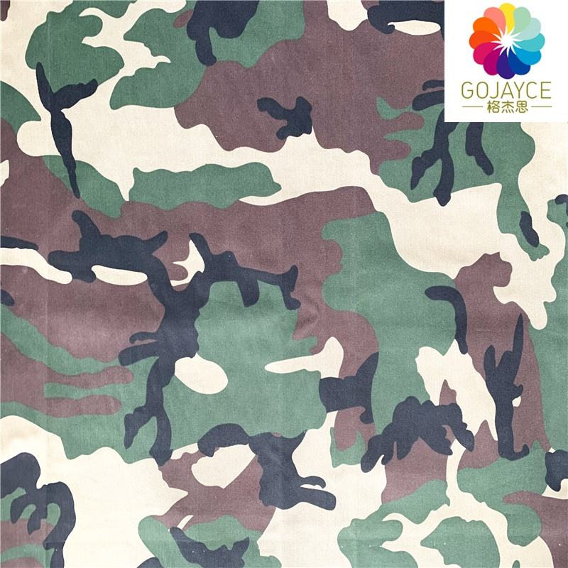 Polyester/Cotton Asian woodland Military Camouflage Uniform Twill Fabric