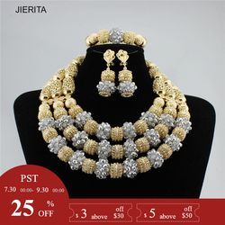 XL2132 Handmade boutique Gold and sliver color crystal fashion jewelry sets