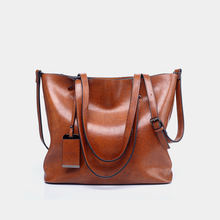 Wholesale Europe and The United States PU Leather Trend Large Capacity Shoulder Tote Bag