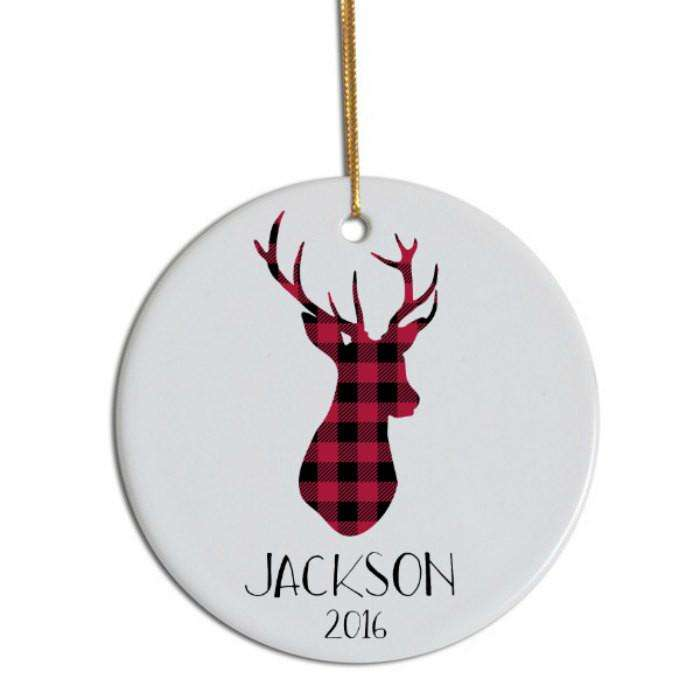 Christmas Tree Decoration Customized Two Sides White Blank Sublimation Ceramic Christmas Ornaments