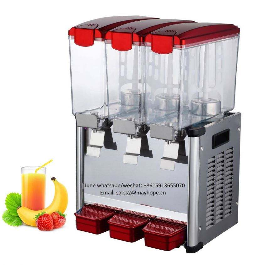 Stainless steel double juice dispenser (PC pot)