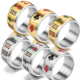 Chinese symbol mahjong poker playing card punk Hip-hop Mens Boys Stainless Steel Ring Band Biker Finger Rings Wholesale Jewelry