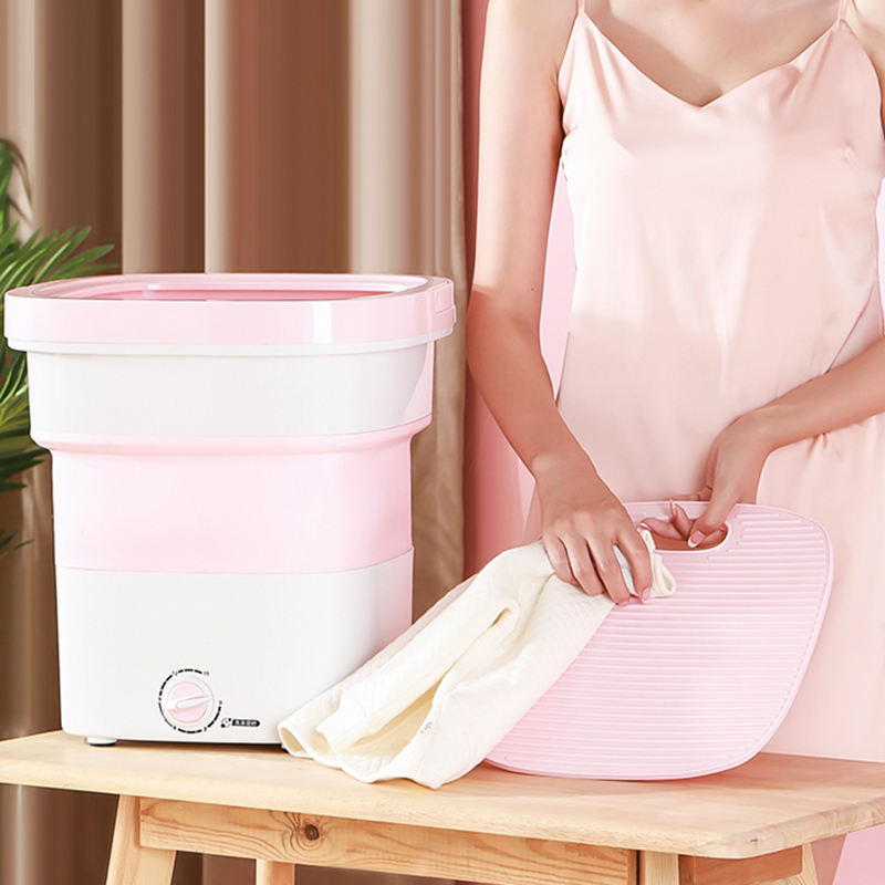 KINGSUN manufacturer portable mini folding travel clothes washing machine compact laundry small washer