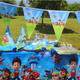 Paw Patrol Theme Cartoon Disposable Tableware kids Birthday Party Paper Cups +Plates+Napkins+Flags Sets Supplies