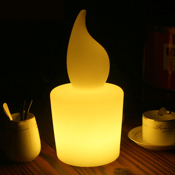 Flickering LED Tealight Moving Wick Remote/WIFI/DMX Control LED Candle Clear
