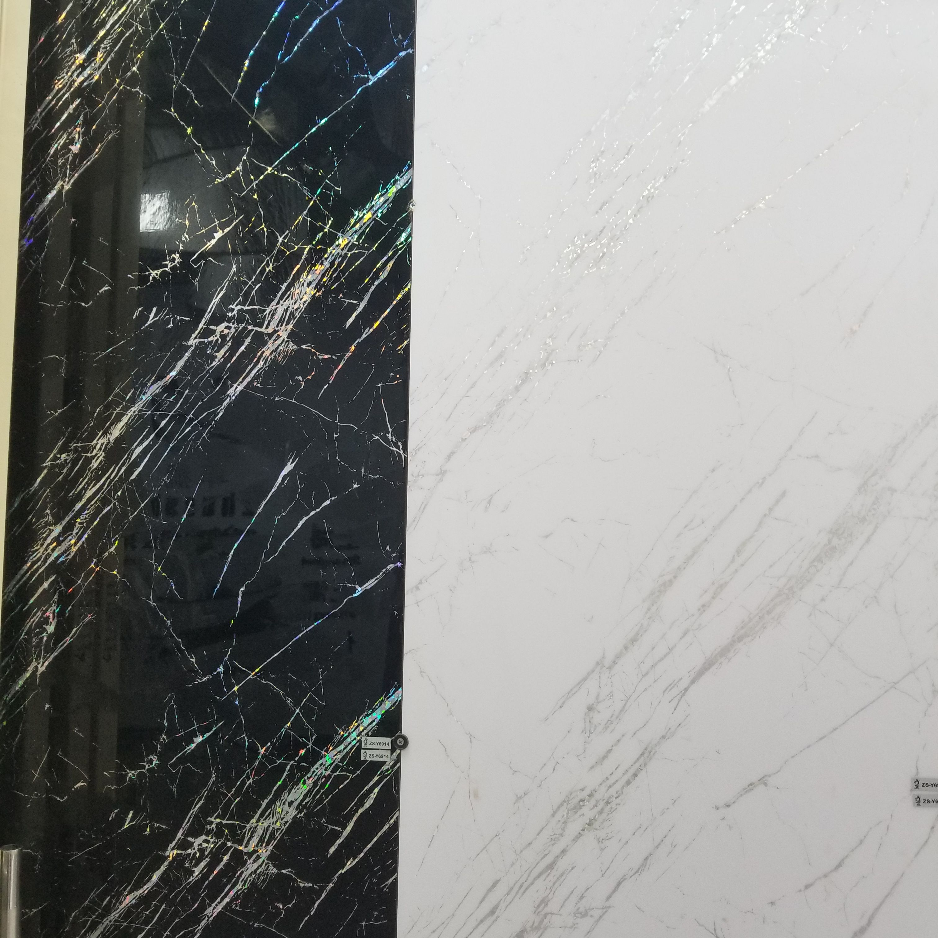 PET Acrylic PVC Sheet for lamination furniture table White marble Black marble
