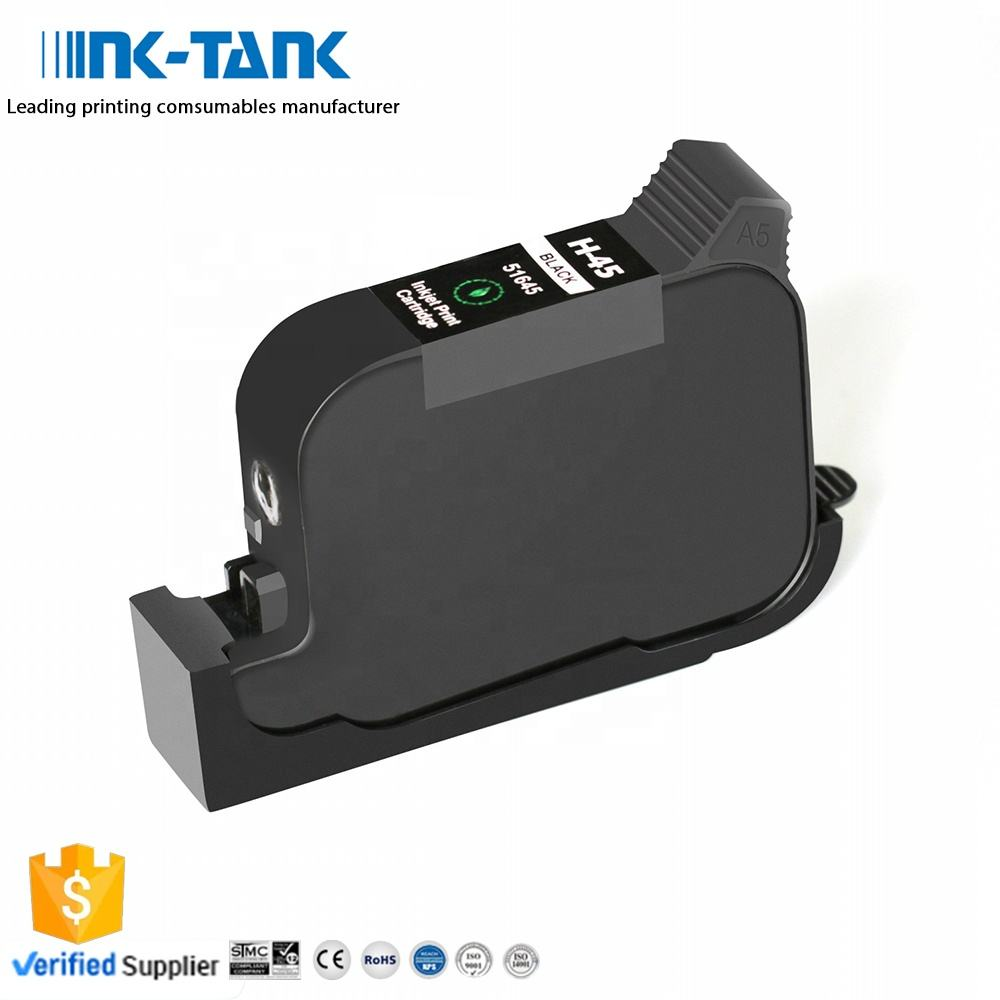 Cartridge Compatible 45 INK-TANK 45 51645A 51645 45si 45a Premium Black Remanufactured Ink Cartridge For HP45 For HP Deskjet 710c 830c 1000cse
