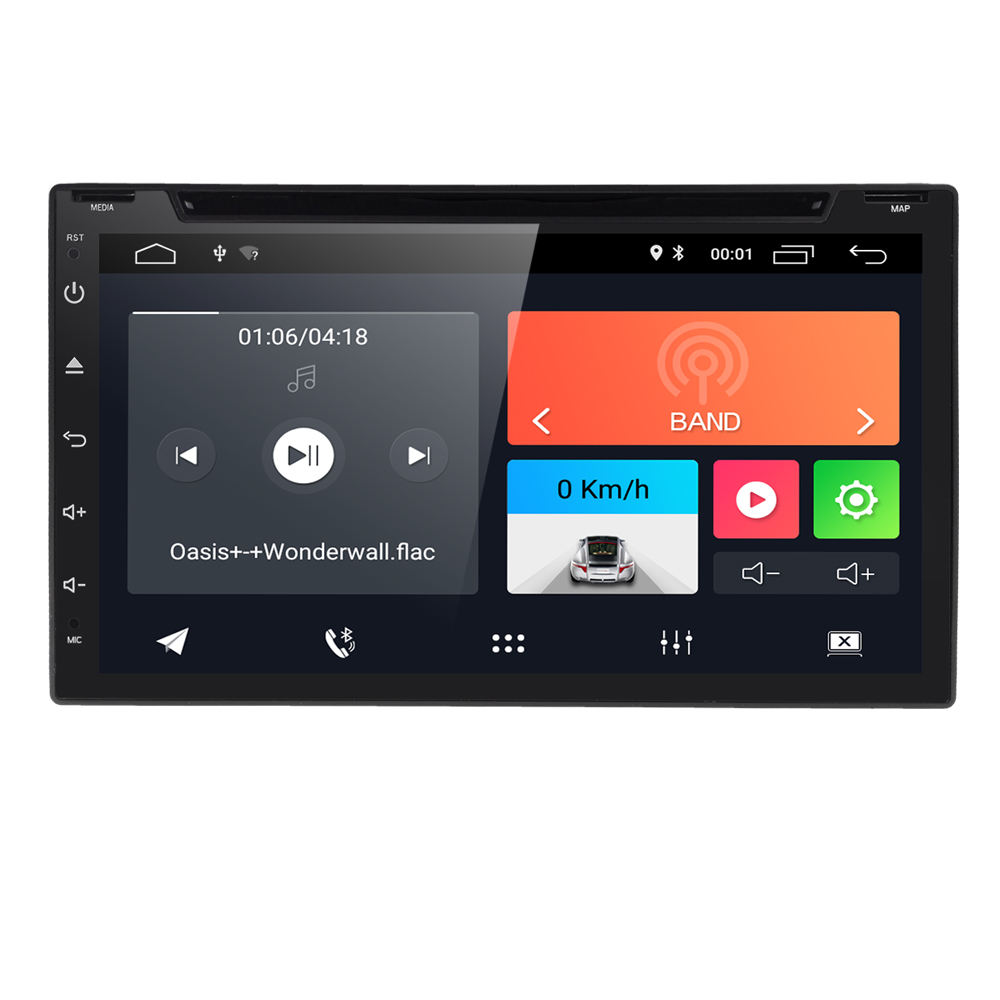 "universal android 10.0 in dash hits car cd dvd ktv player gps navigation stereo dsp radio wifi 7""touchscreen"