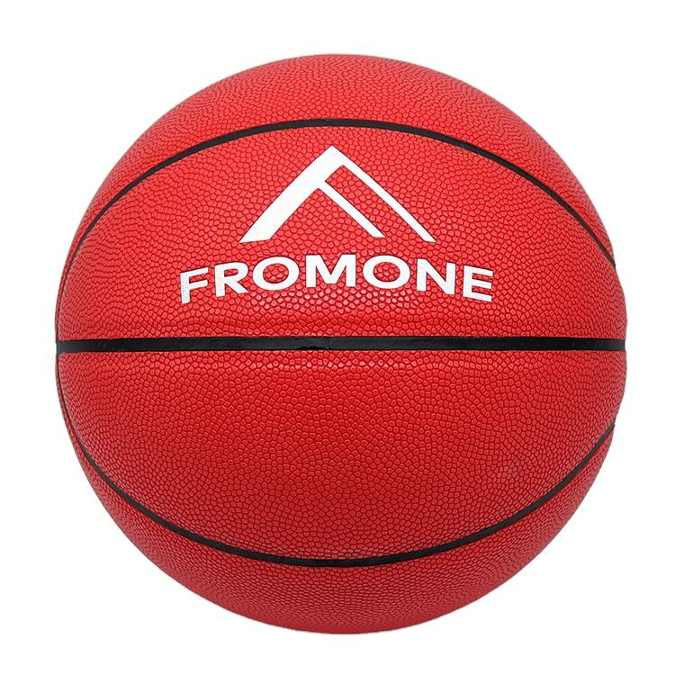 Red Moisture Absorbing Composite Leather Basketball In Cheap Price For Online Business