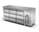 Restaurant Kitchen equipment Undercounter fridge with 9 Drawers