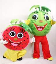 Fashion LOW MOQ cute mascot fruit plush toy custom cartoon character fruit mascot costumes