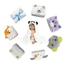 Hot sale factory direct bamboo hooded baby bath towel with animal pattern