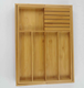 bamboo extendable kitchen cutlery tray in drawer