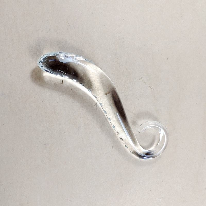 Factory Wholesale OEM Clear Hippocampus Dildo/Hippocampus Sex Dildo/Hippocampus Glass Dildo for Adult Sex Life Use
