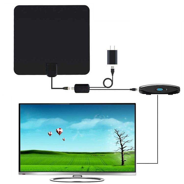 High Gain 30dbi Flat Digital Indoor 1080P TV-Antenne HDTV HD-TV-Antenne