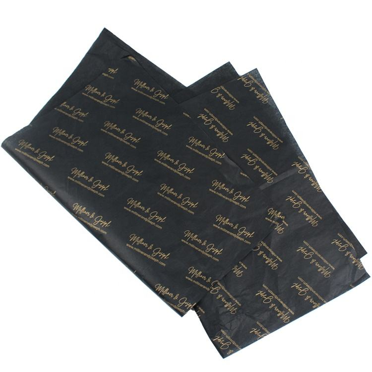 Custom Gold Brand Logo Printing Gift Wrapping Tissue Paper for Packing